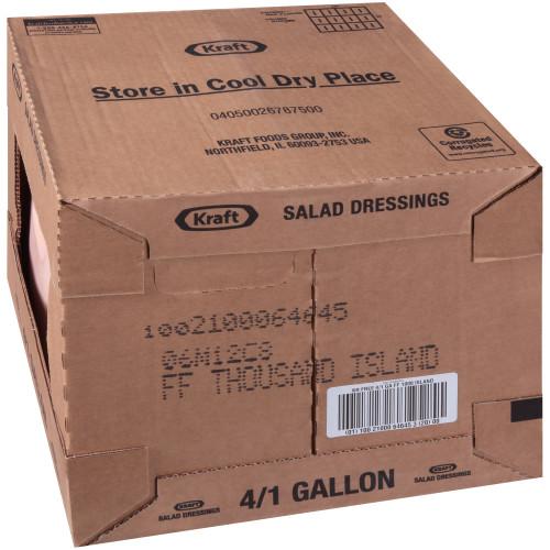 KRAFT Bulk Fat-Free Thousand Island Salad Dressing, 1 gal. Jug (Pack of 4)