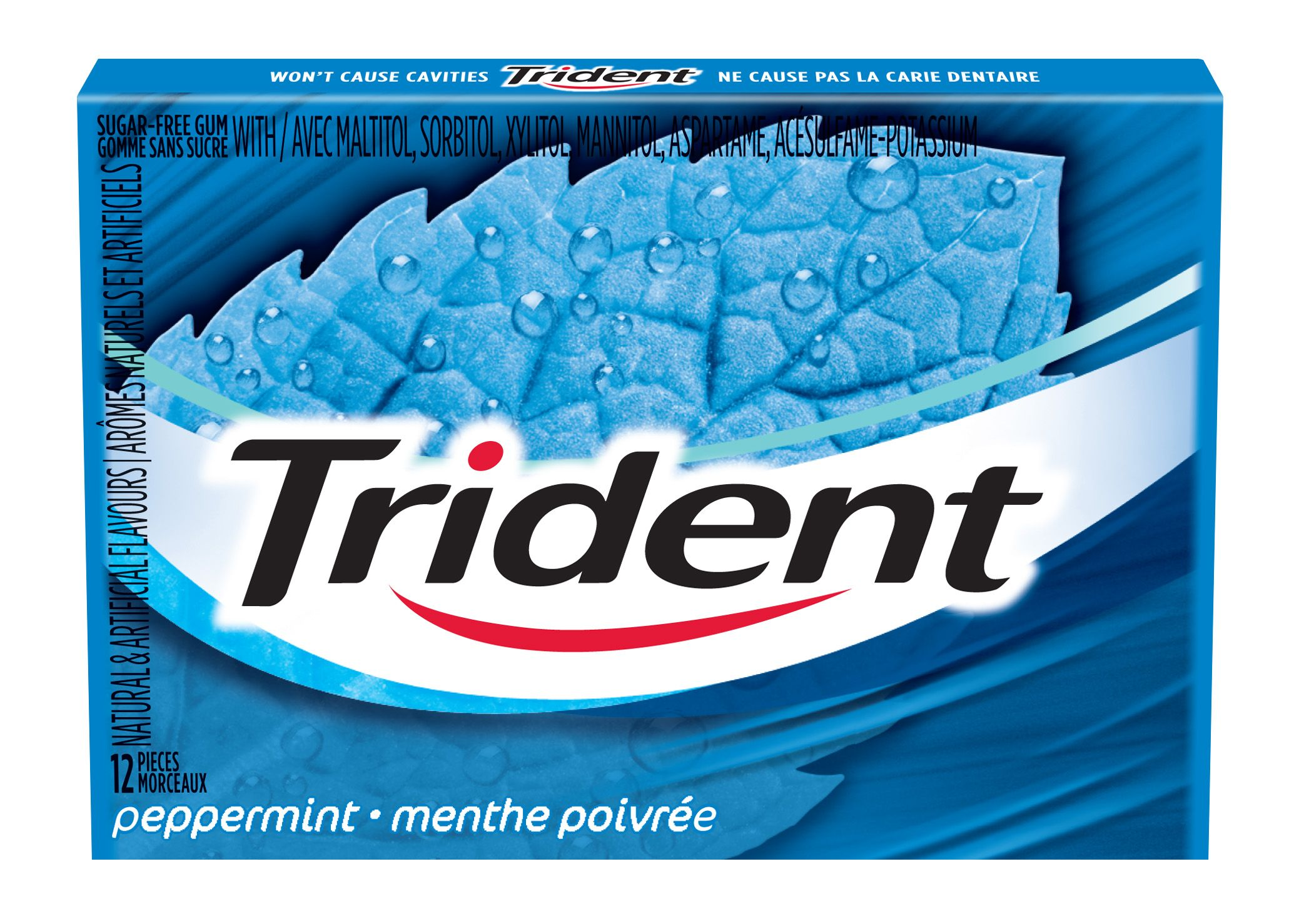 Trident Peppermint Gum 12 Count