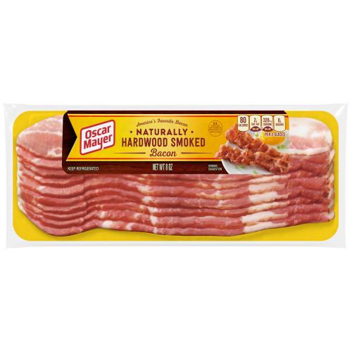 Oscar Mayer Naturally Hardwood Smoked Bacon, 8 oz