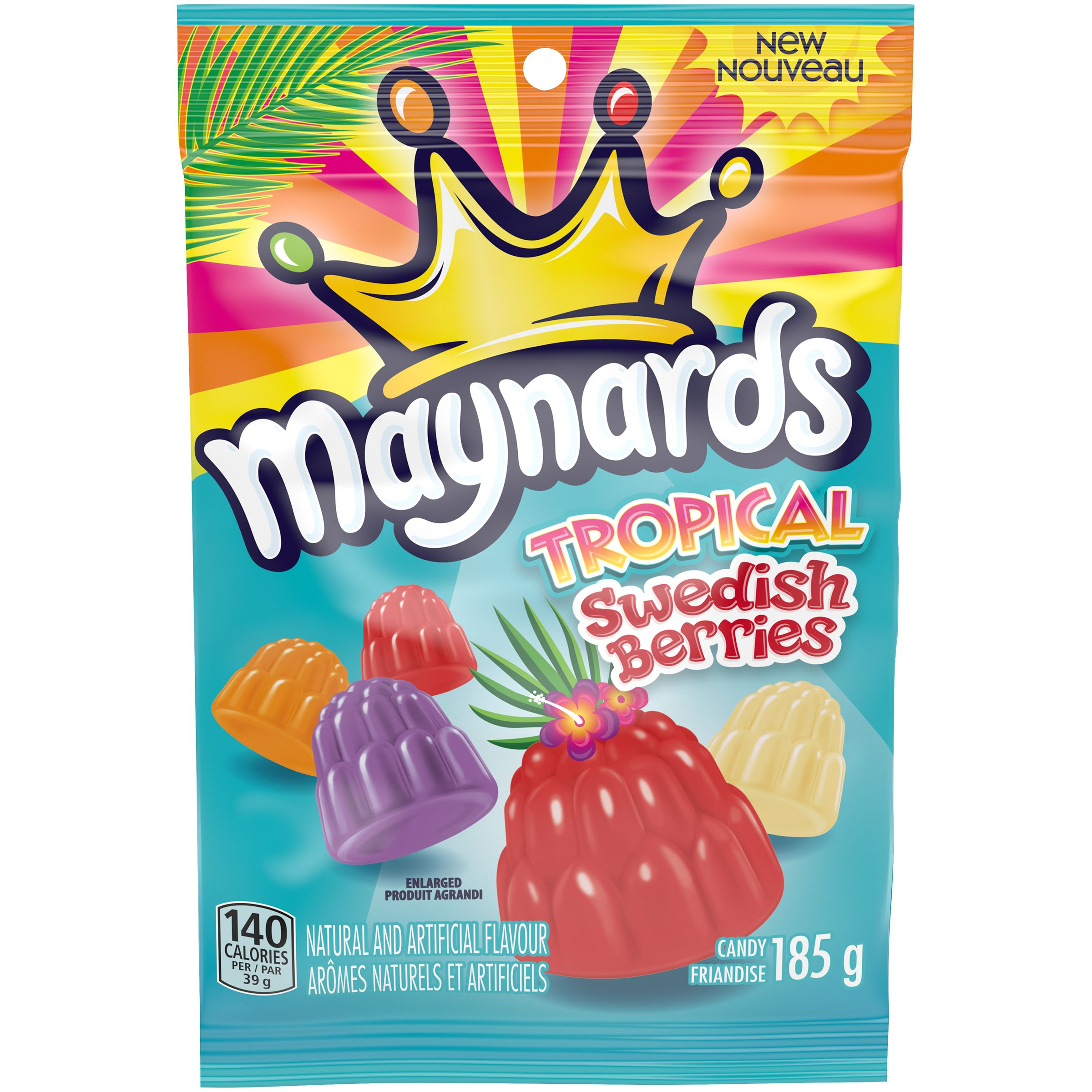 Maynards Swedish Berries Tropical Soft Candy 185 G
