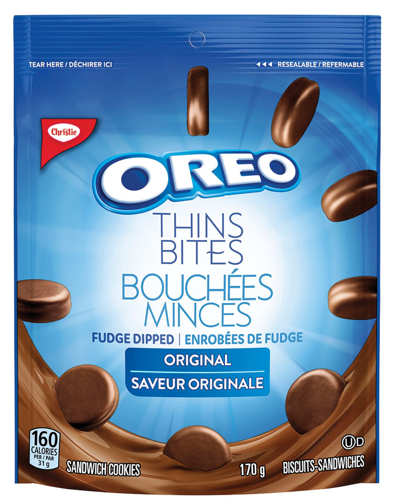 Oreo Thin Bites Dipped Original Cookies 170 G