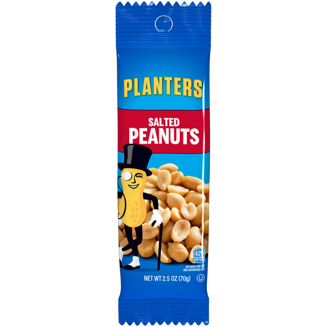 PLANTERS Salted Peanuts 2.5 oz Bag