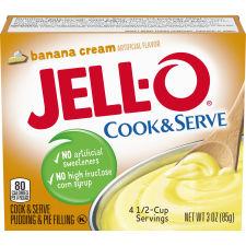Jell-O Cook & Serve Banana Cream Pudding & Pie Filling 3 oz Box