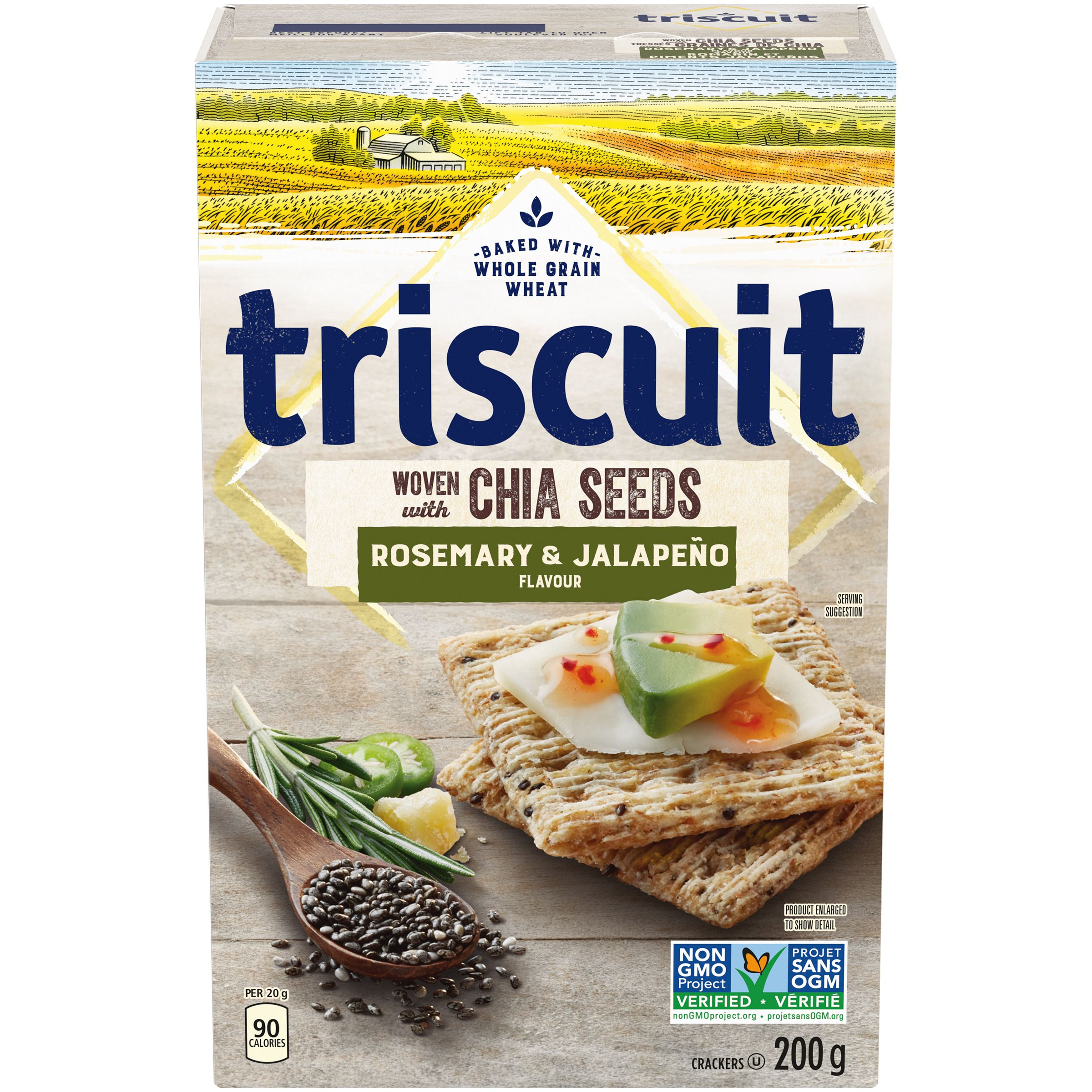 Triscuit , Jalapeno & Chia Seeds Crackers 200 G