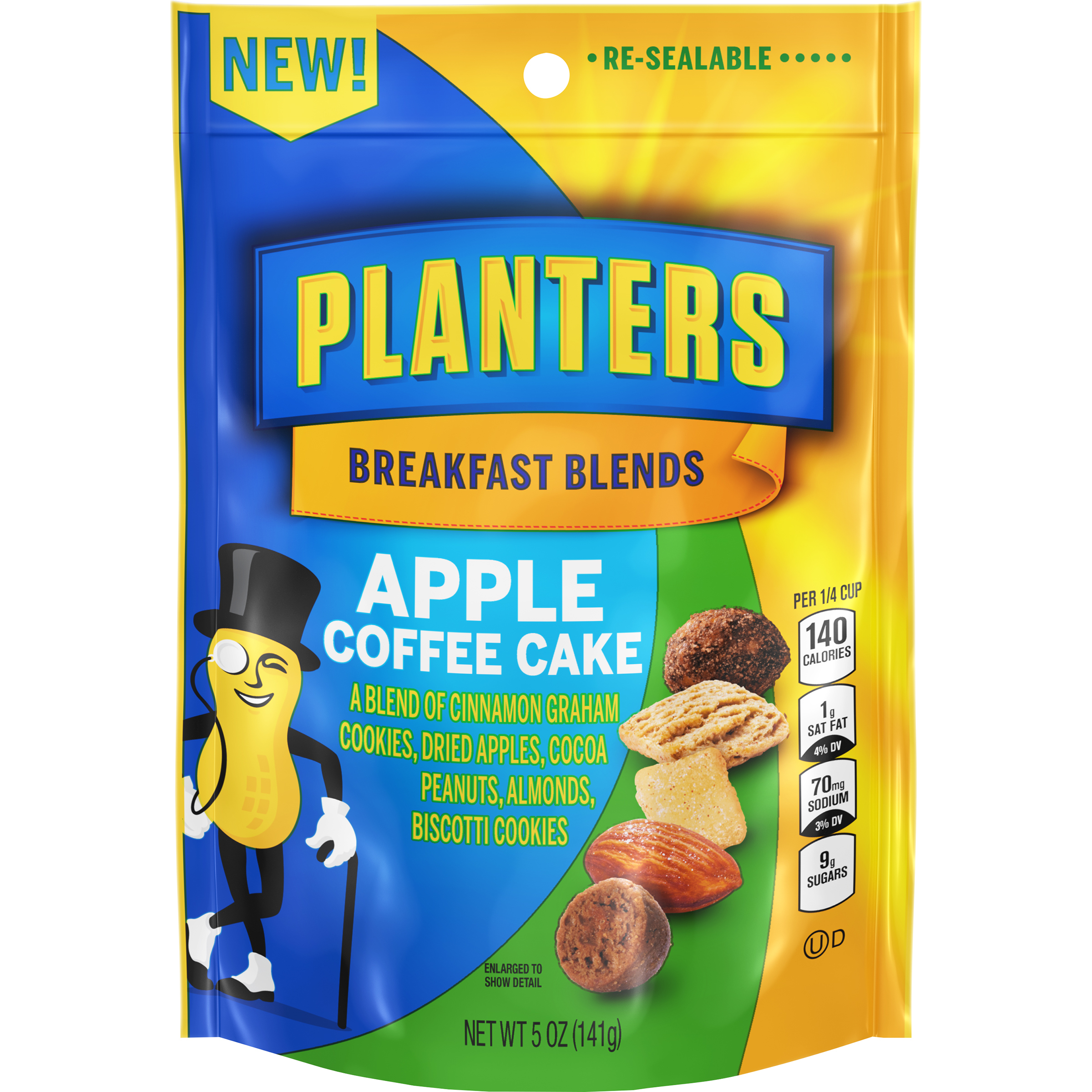 Planters Breakfast Blends Apple Coffee Cake Trail Mix, 5 oz Bag image
