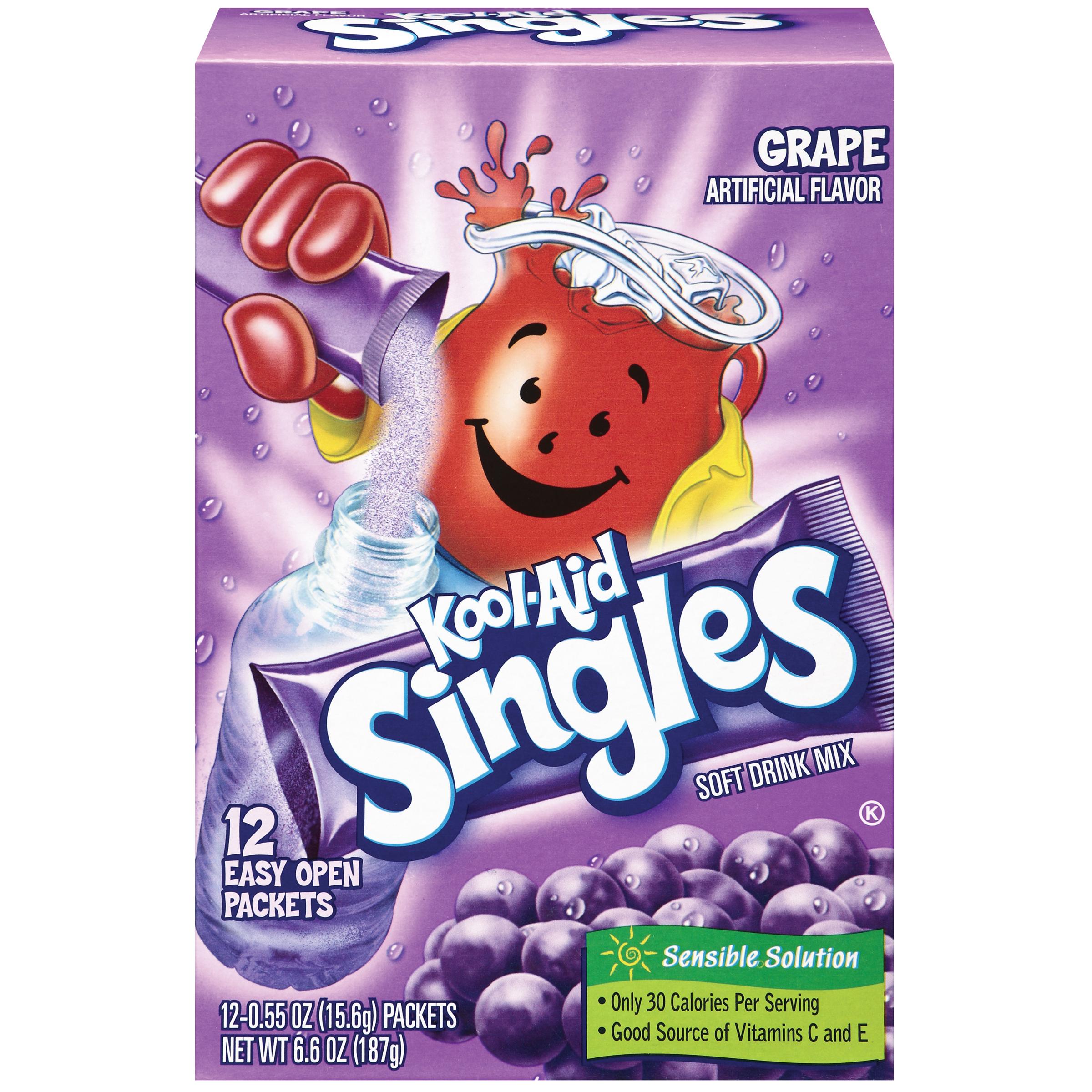 Kool-Aid Singles Grape 12 Ct Soft Drink Mix 6.6 Oz Box image