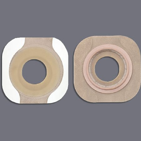 New Image Flextend Colostomy Barrier Pre-Cut, Extended Wear Tape 1-3/4 Inch Flange Green Code Hydrocolloid 1-1/4 Inch Stoma, 14706 - Box of 5