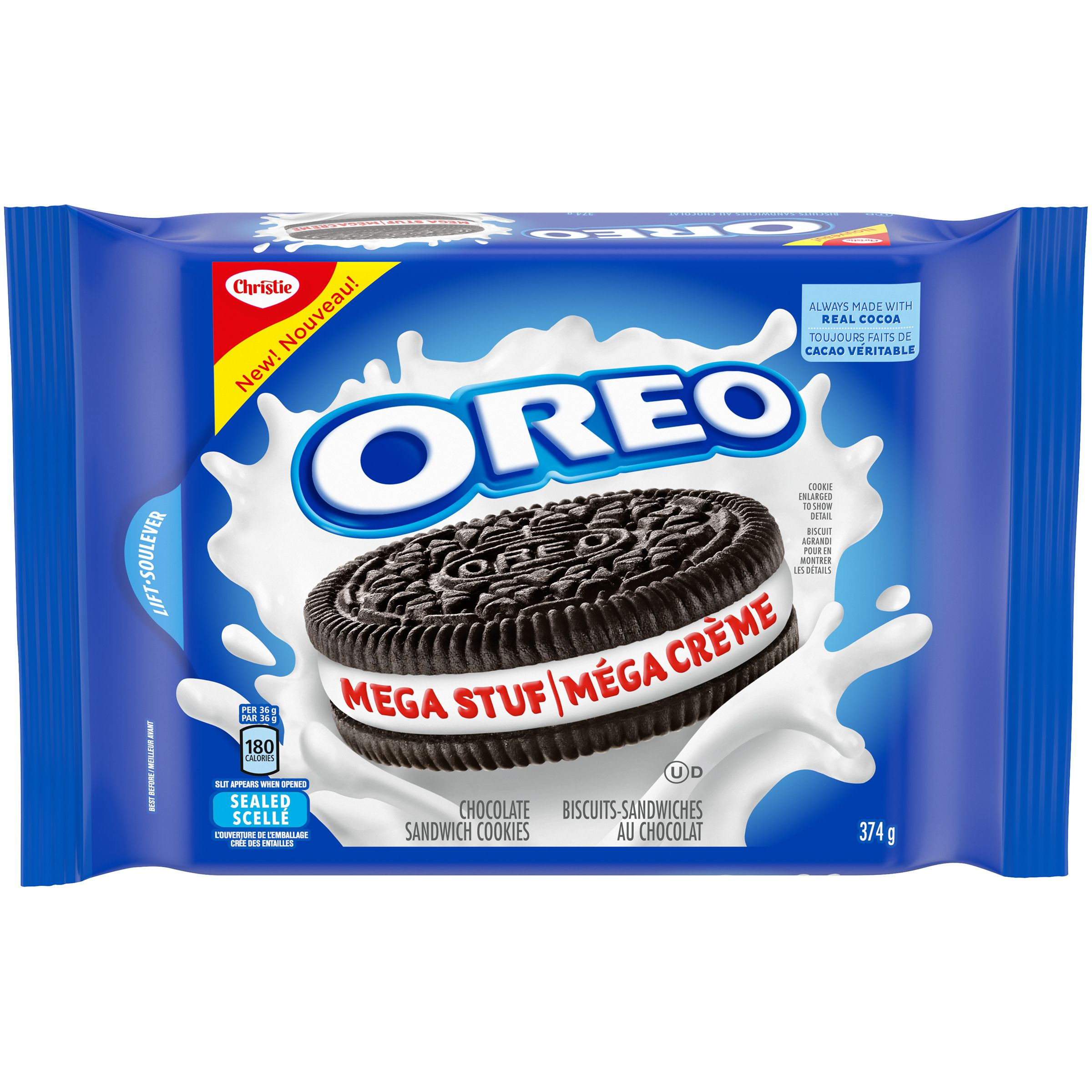 Oreo Mega Stuff Biscuits 374 G
