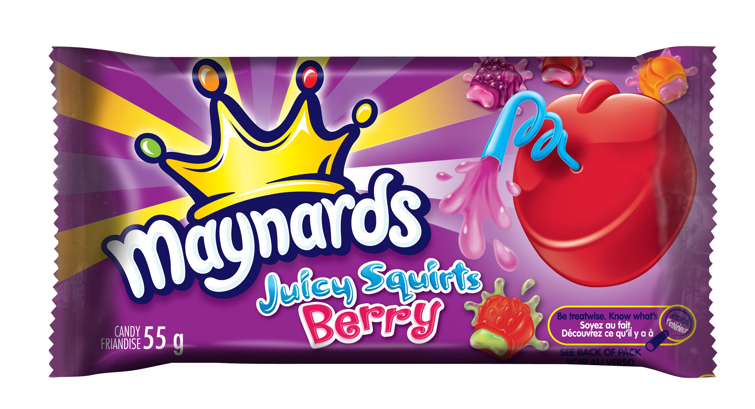 Maynards Juicy Squirts Berry Soft Candy 55 G