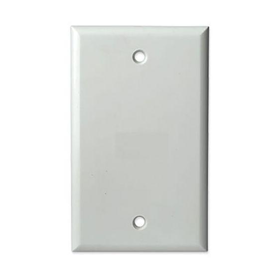 1Gang White Blank Wall Plate Wave Electronics