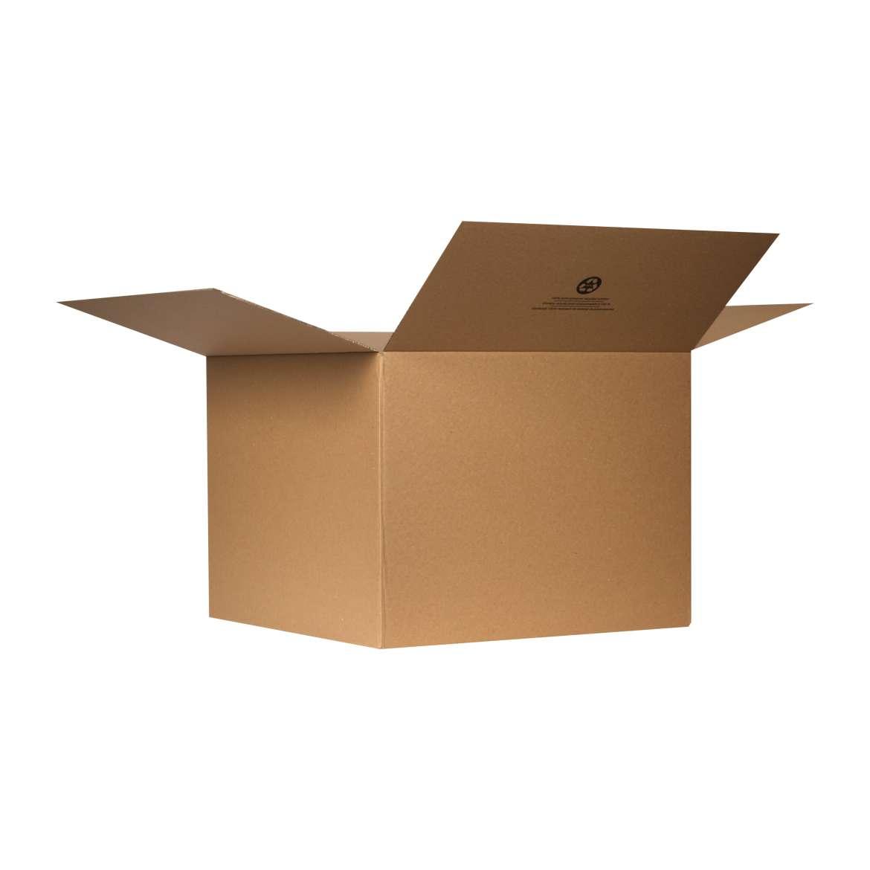 Duck® Brand Kraft Box - Brown, 24 in. x 24 in. x 18 in. Image