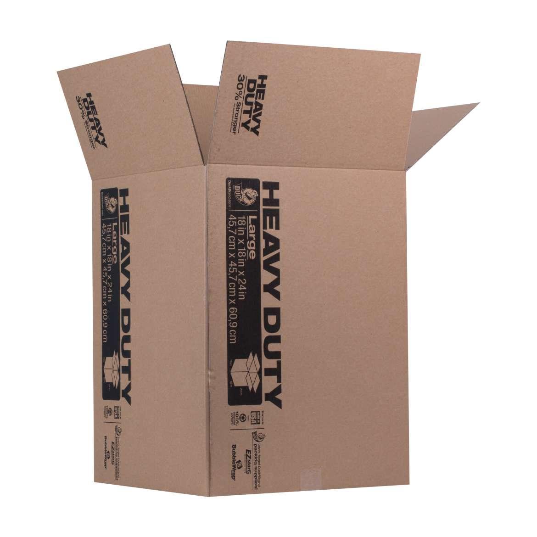 Duck® Brand Heavy Duty Kraft Box - Brown, 18 in. x 18 in. x 24 in. Image