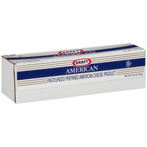 KRAFT American Cheese, 5 lb. Loaf (Pack of 4) image