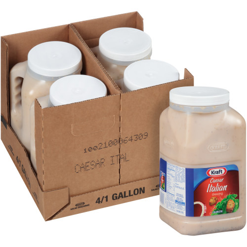 KRAFT Caesar Italian Salad Dressing, 1 gal. Jugs (Pack of 4)