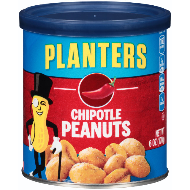 PLANTERS Chipotle Peanuts 6 oz Can image