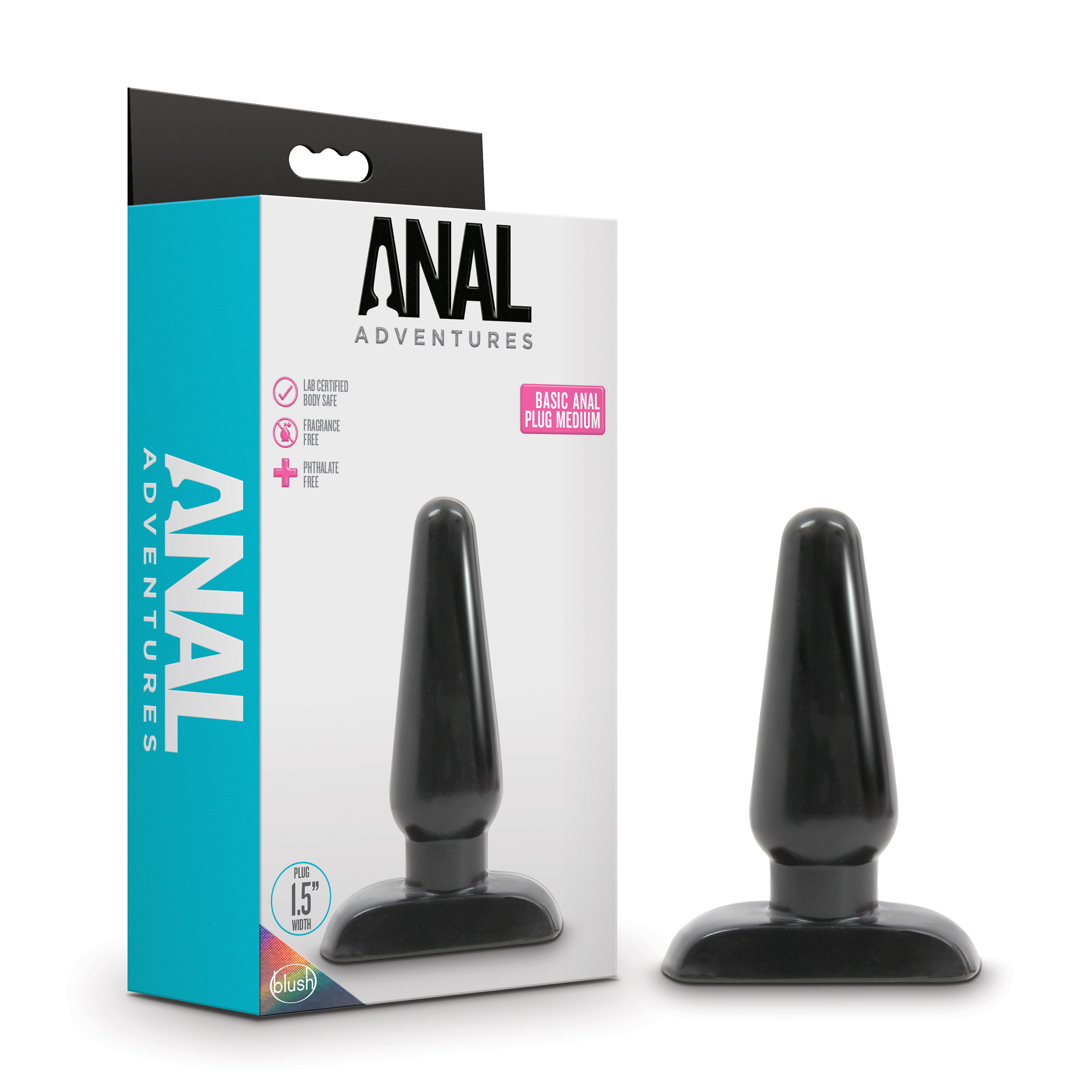 Anal Adventures - Basic Anal Plug - Medium - Black