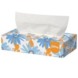 Kleenex Facial Tissue White 8-1/5 X 8-2/5 Inch, 21400 - Case of 36