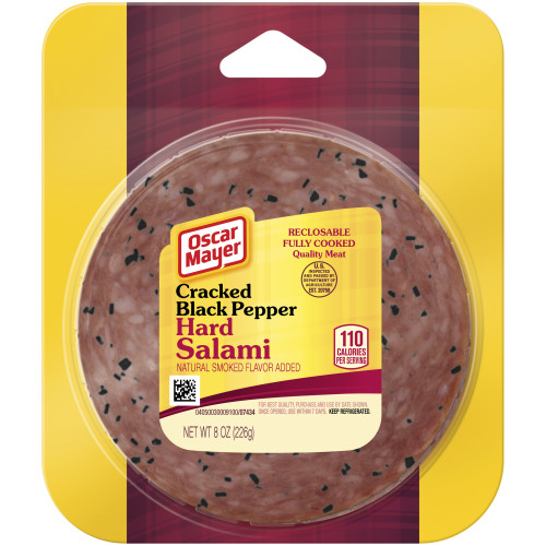 Oscar Mayer Cracked Bell Pepper Hard Salami, 8 oz