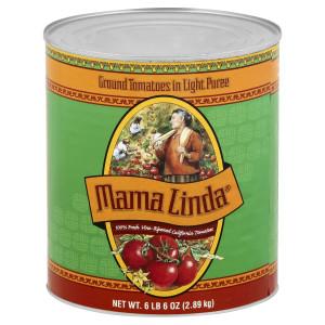 Mama Linda Ground Tomato Puree Tin, 6 lb. image