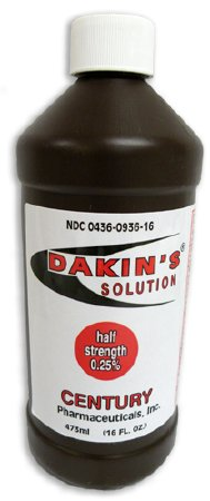 Dakins Solution Antimicrobial Wound Cleanser 16 oz. Bottle, 00436093616 - EACH