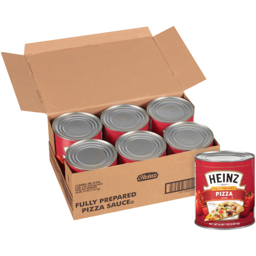 HEINZ Fully Prepared Pizza Sauce, 105 oz. Can (Pack of 6)