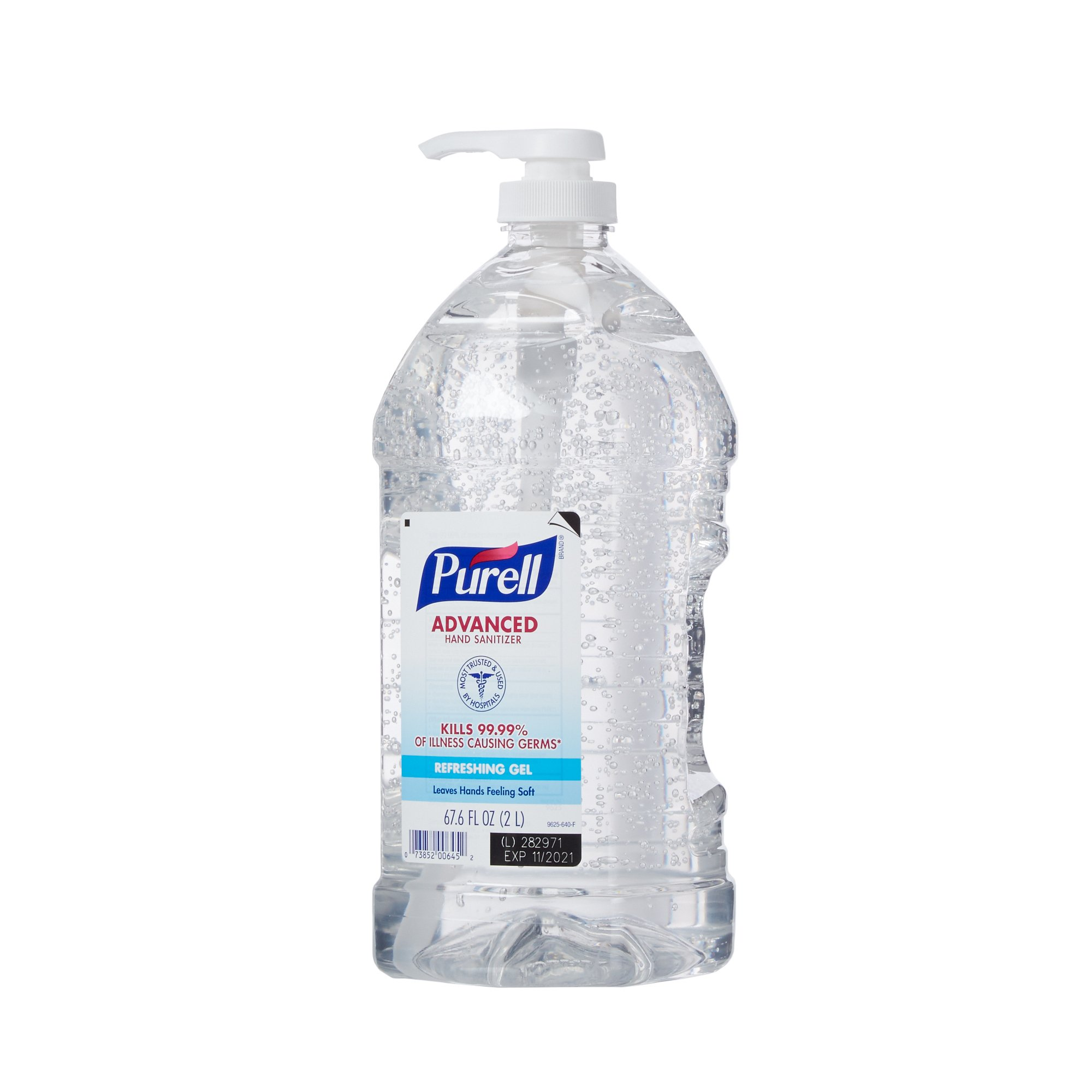 Purell Hand Sanitizer 2,000 mL Ethyl Alcohol Gel Pump Bottle, 9625-04 - Case of 4