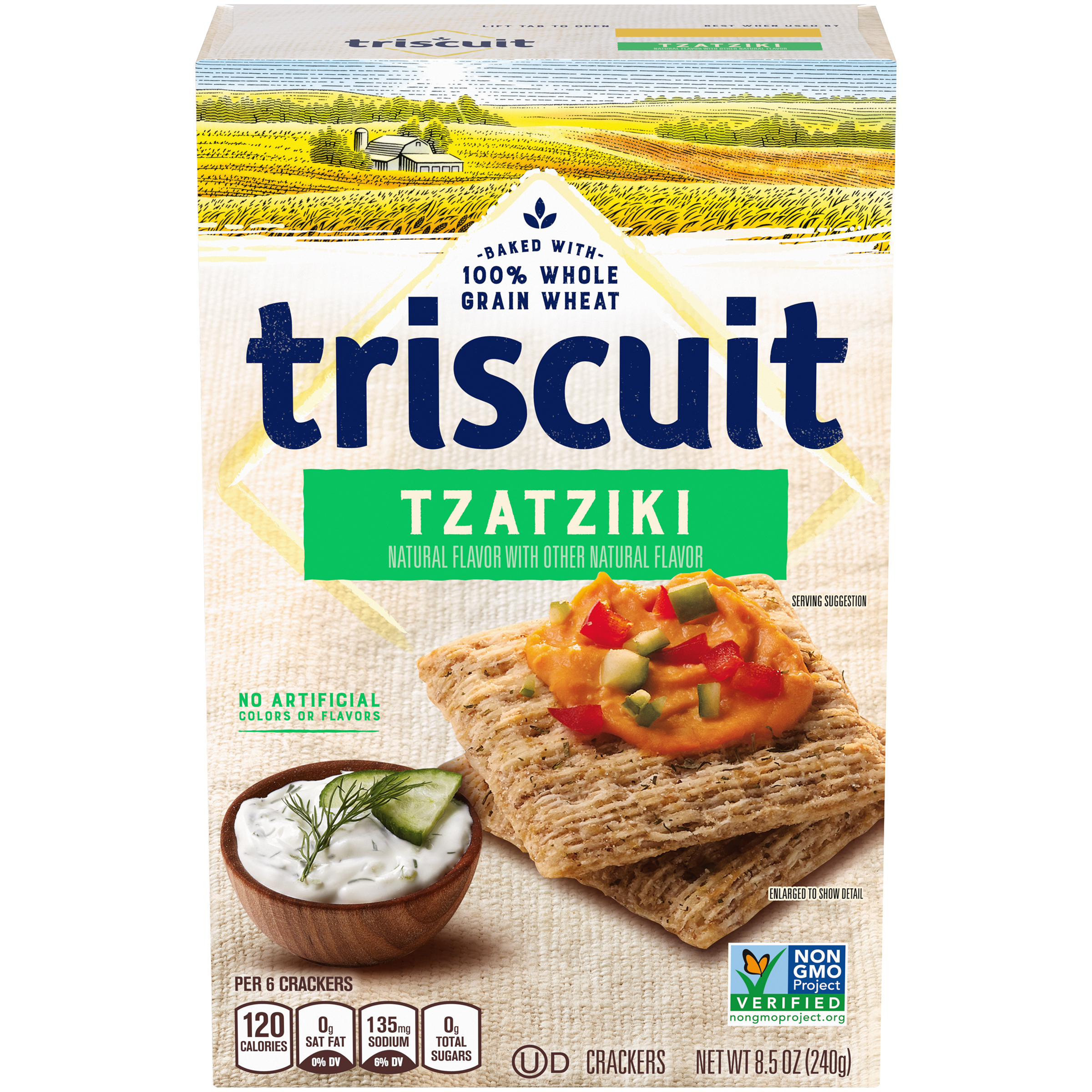 TRISCUIT Tzatziki Crackers 8.5 oz