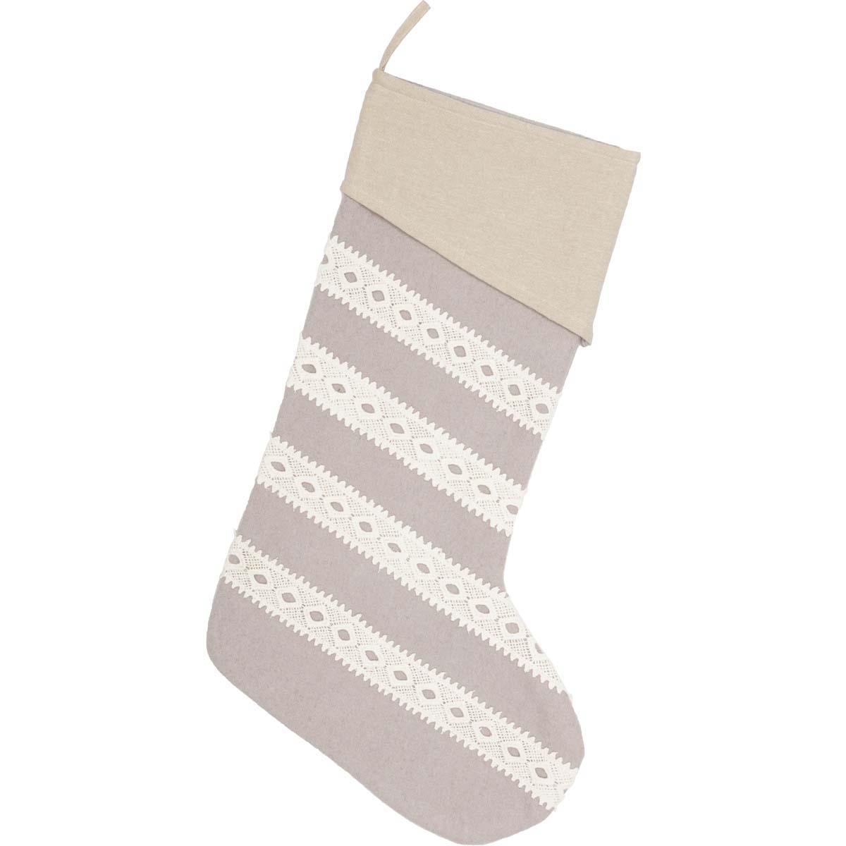 Margot Grey Stocking 12x20