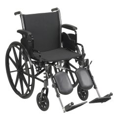 Lightweight Wheelchair, McKesson, Dual Axle Desk Length Arm Flip Back, Padded, Removable Arm Style Mag Wheel Black 18 Inch Seat Width 300 lbs. Weight Capacity, 146-K318DDA-ELR - EACH