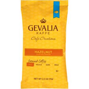 GEVALIA Hazelnut Roast & Ground Coffee, 2.5 oz. Bag (Pack of 24) image
