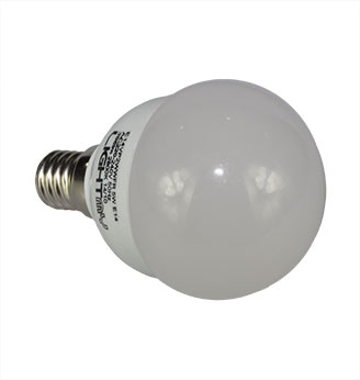 Cartridge Shop 4 Pack of E14 Screw LED Golfball Bulb 5W (35W Equivalent) 396 Lumen - Warm White Frosted