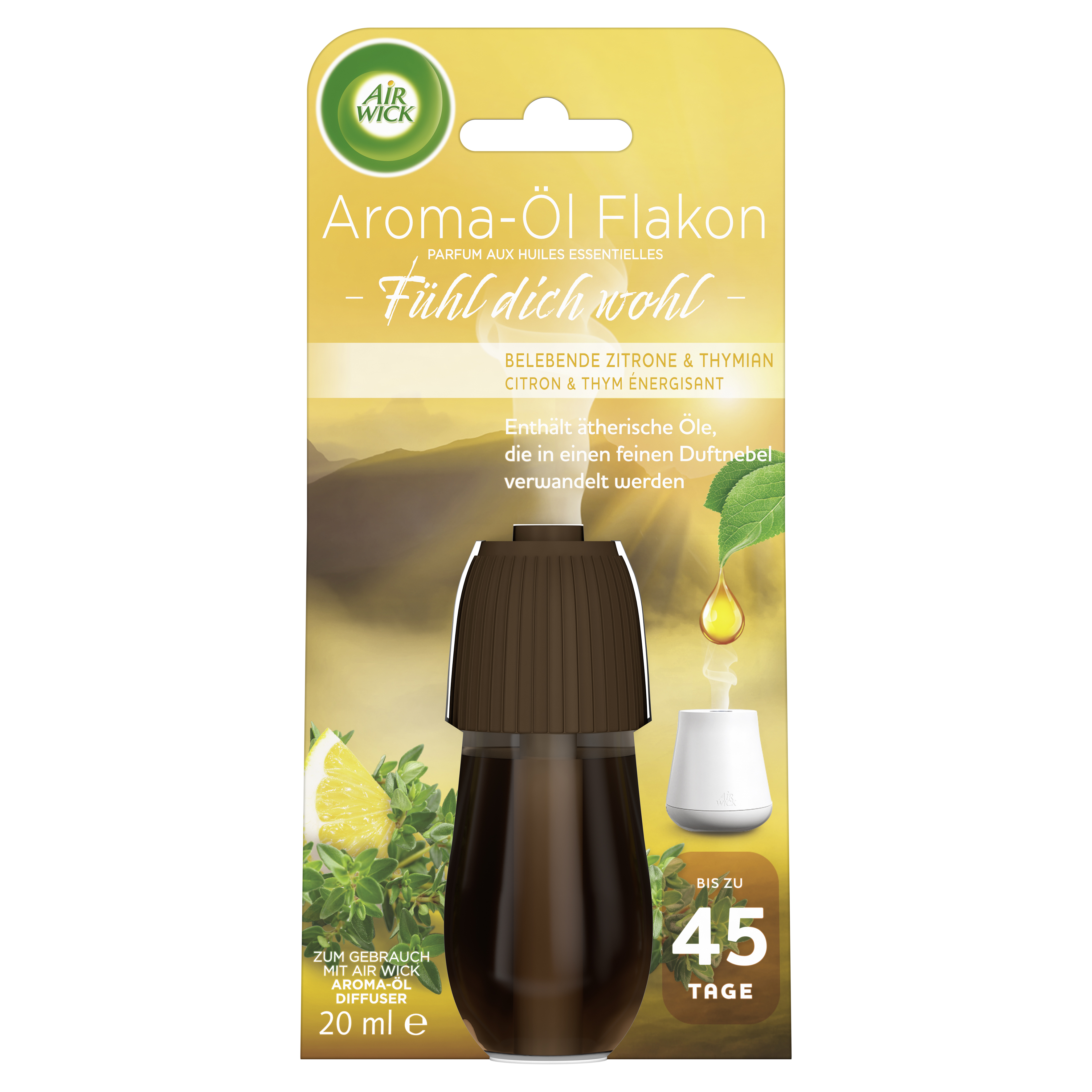 Air Wick Aroma-Öl Flakon Belebende Zitrone & Thymian