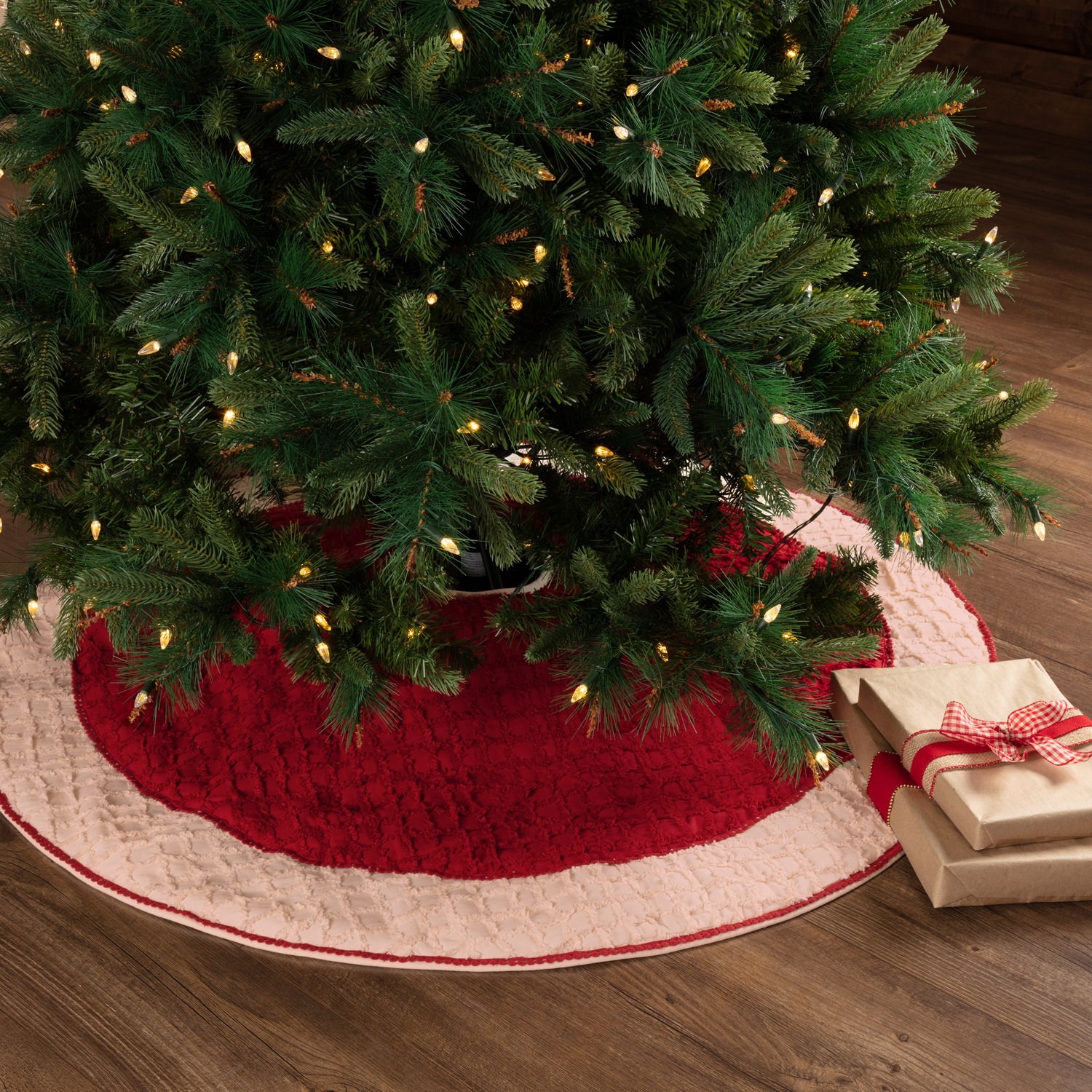 Chenille Christmas Tree Skirt 48