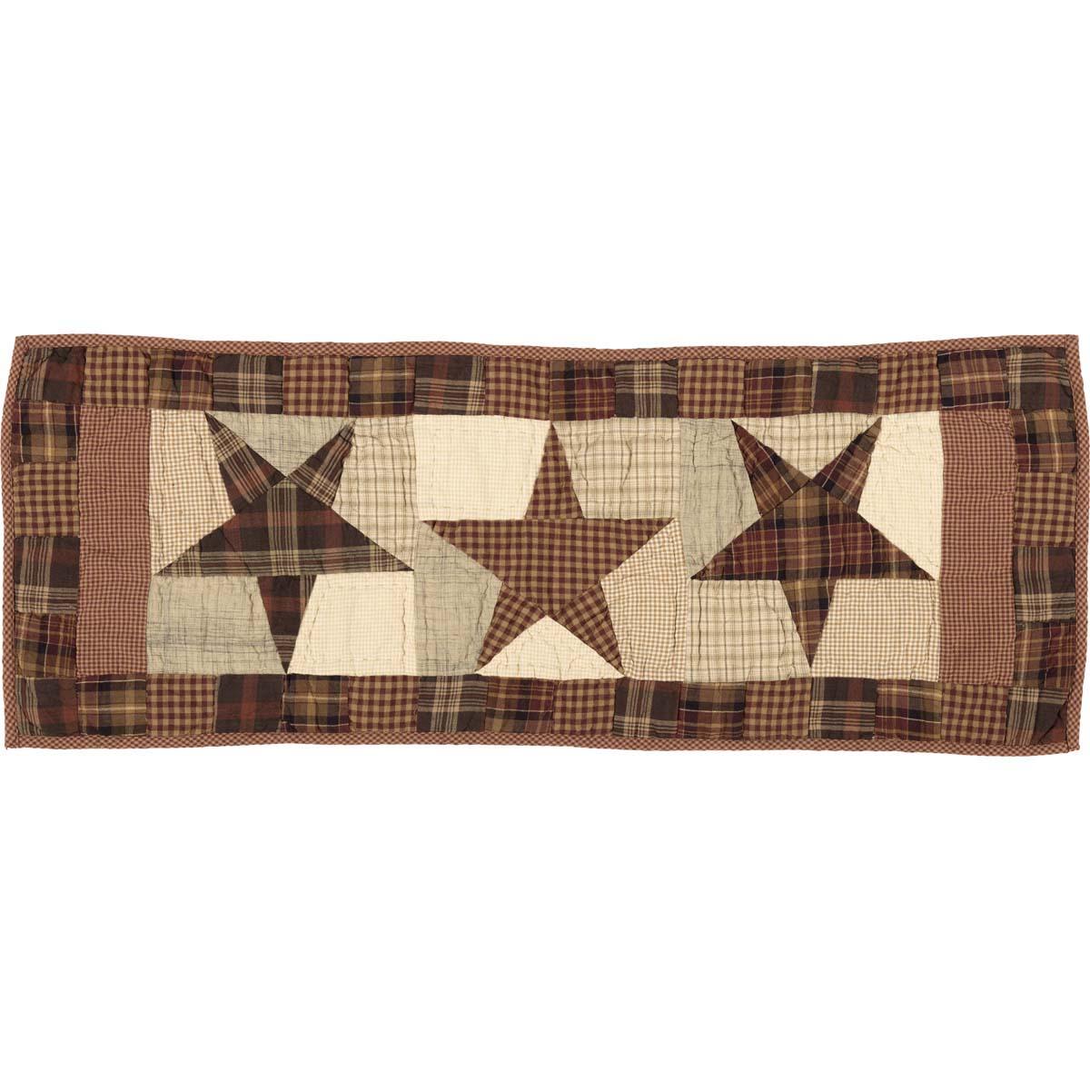 Abilene Star Quilted Runner 13x36