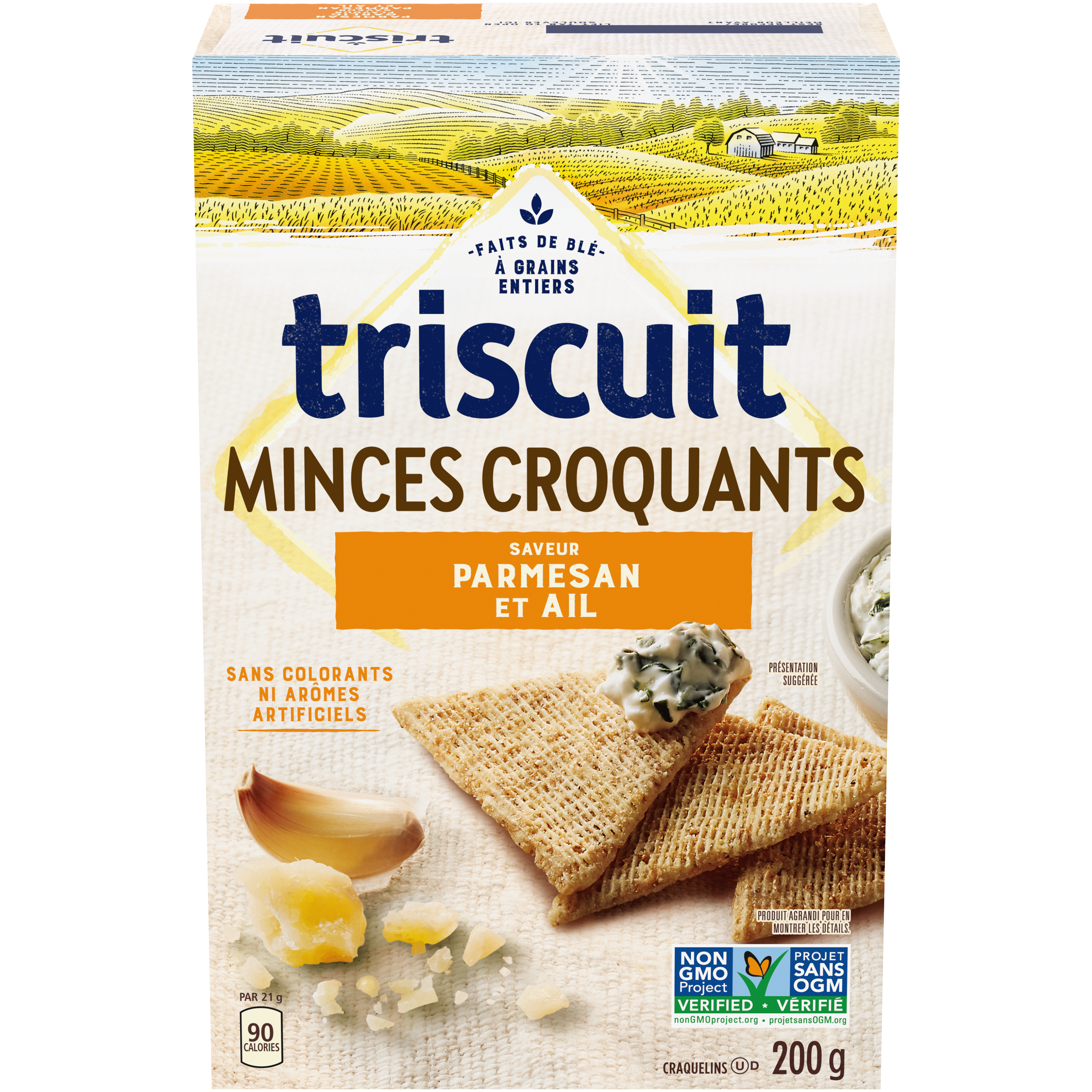 Triscuit Triscuit Thin Crisps Parmesan Garlic Crackers 200 G