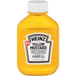 HEINZ Yellow Mustard, 16.9 oz. FOREVER FULL Bottle (Pack of 16) image
