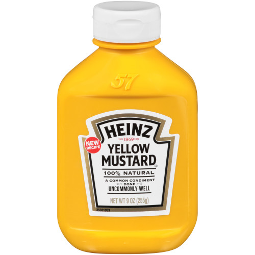 HEINZ Yellow Mustard, 16.9 oz. FOREVER FULL Bottle (Pack of 16)