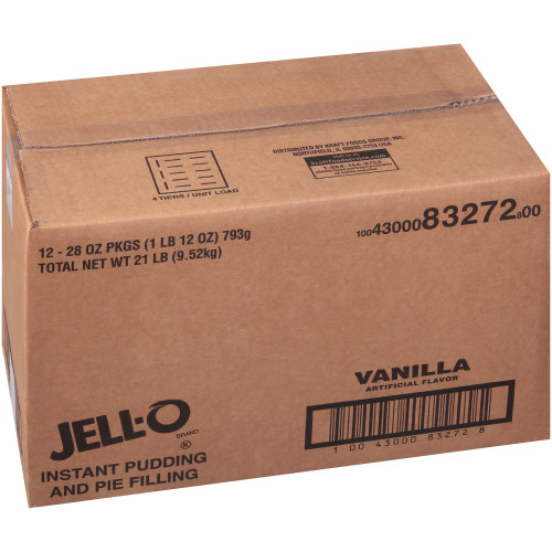 Jell-O Vanilla Instant Pudding & Pie Filling, 12 ct Casepack, 28 oz Pouches