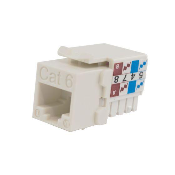 White Cat6 90-Deg Keystone Insert Wave Electronics