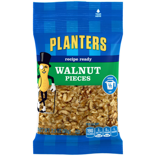 PLANTERS Pieces Walnut 2.3 oz Bag