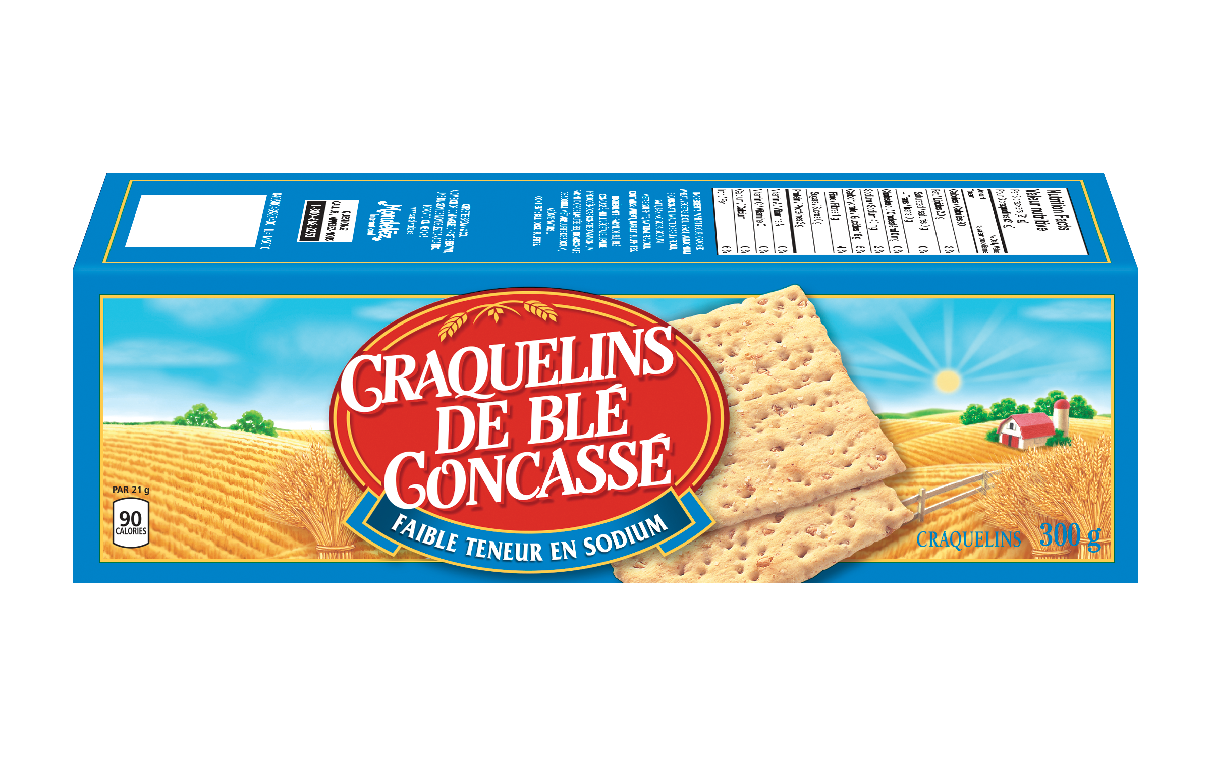 Wheat Thins Faible Teneur en Sodium Craquelins 300 G