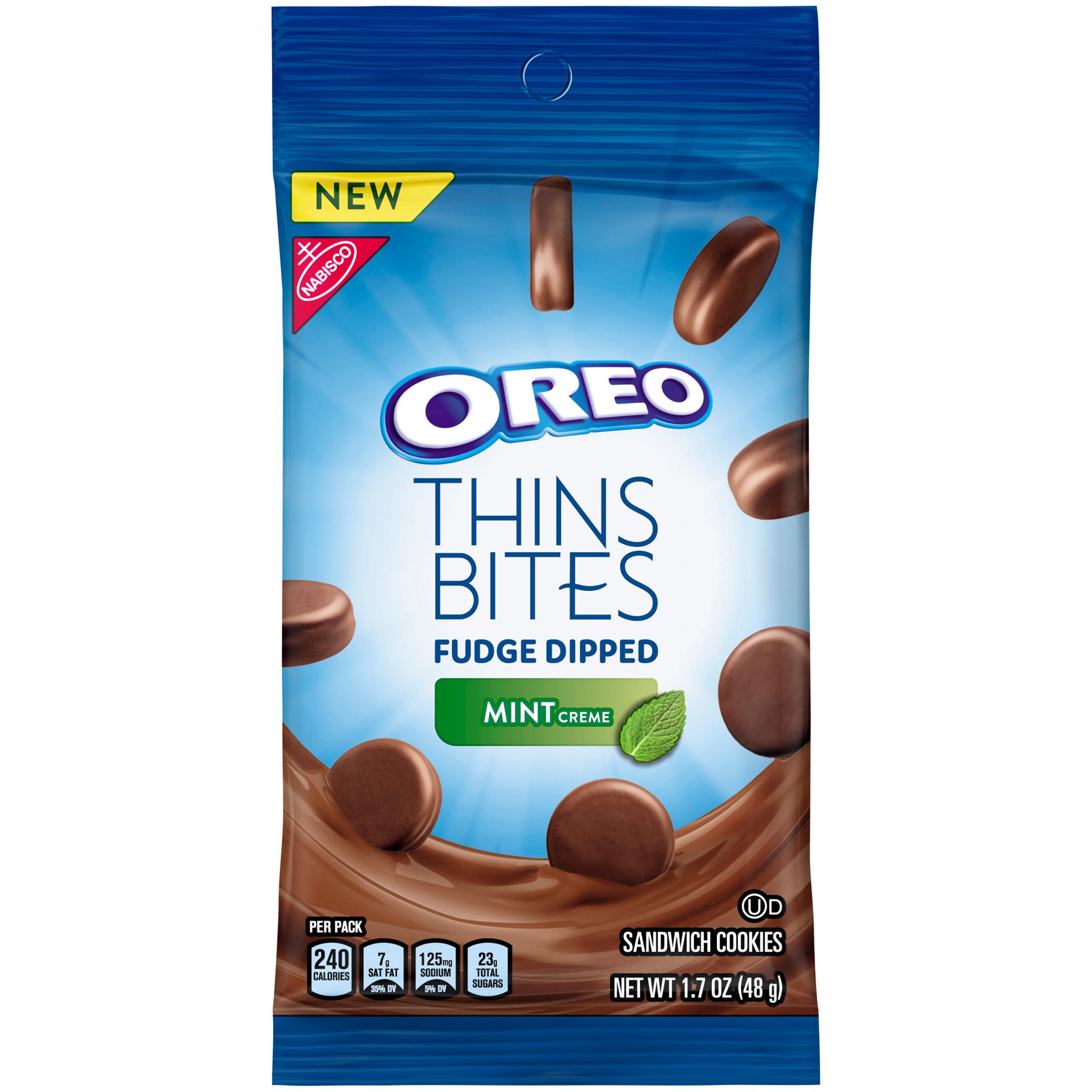 OREO Thin Bites Dipped Mint Creme Cookies 1.7 oz