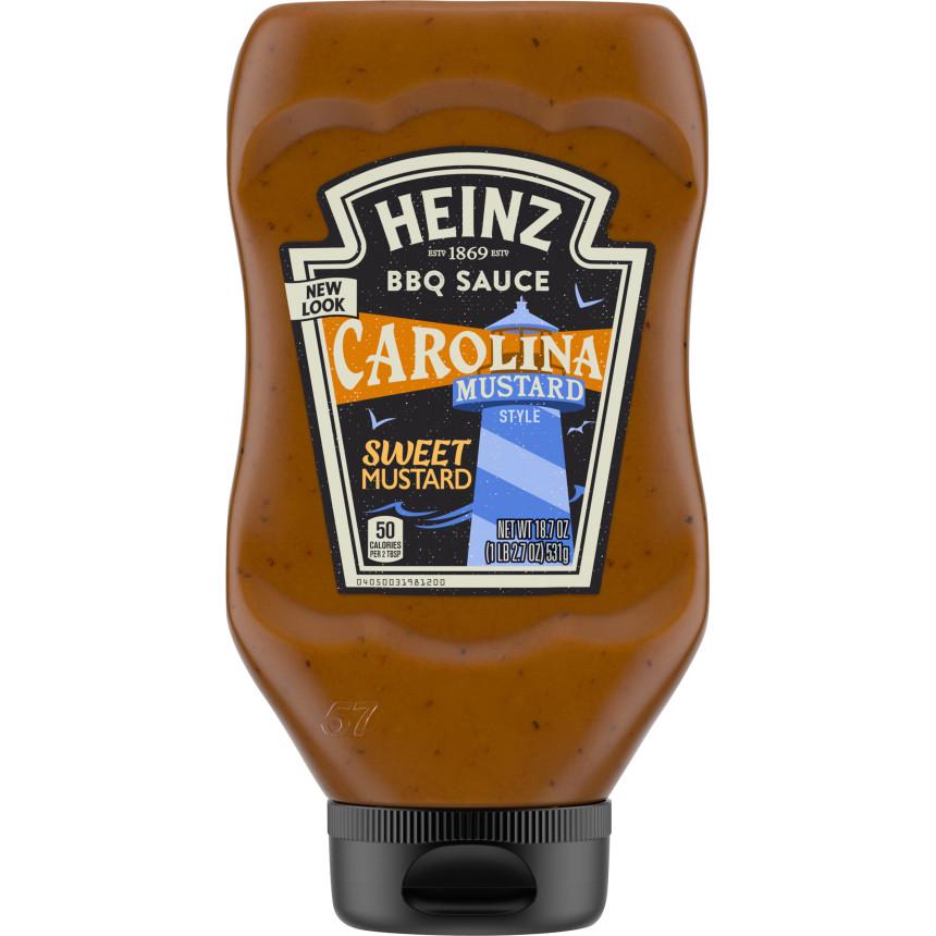 Heinz Carolina Mustard Style BBQ Sauce, 18.7 oz Bottle image