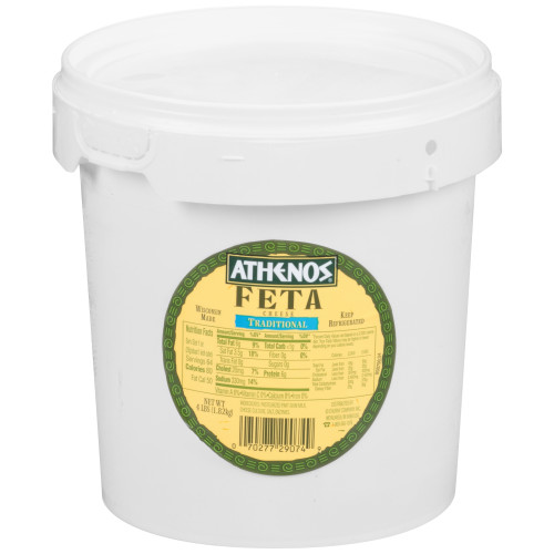 ATHENOS Traditional Feta 4 lb. Pail (Pack of 1)