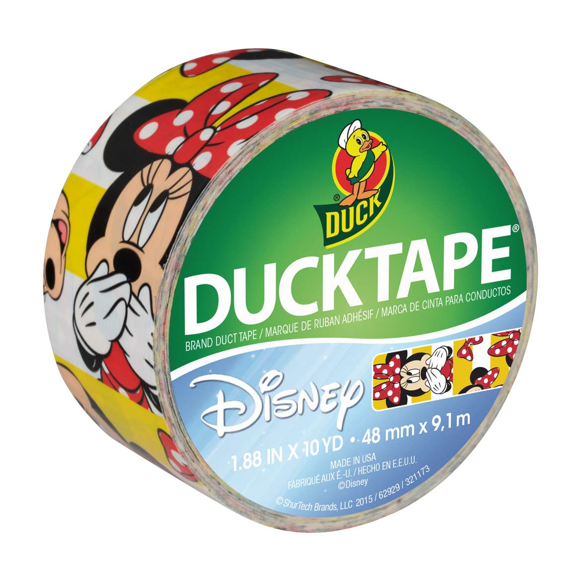 Disney-Licensed Duck Tape® Brand Duct Tape - Minnie Mouse, 1.88 in. x 10 yd. Image