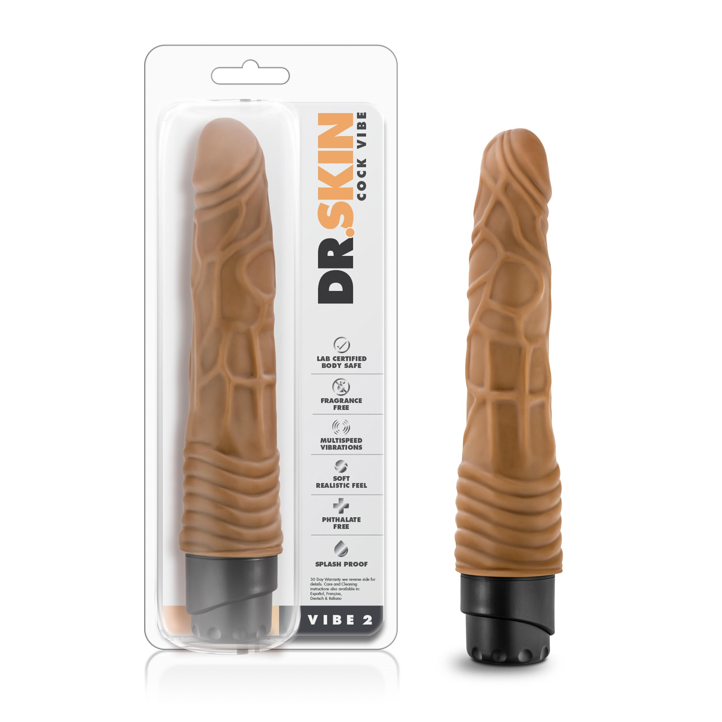 Dr. Skin - Cock Vibe 2 - 9 inch vibrating cock - Mocha