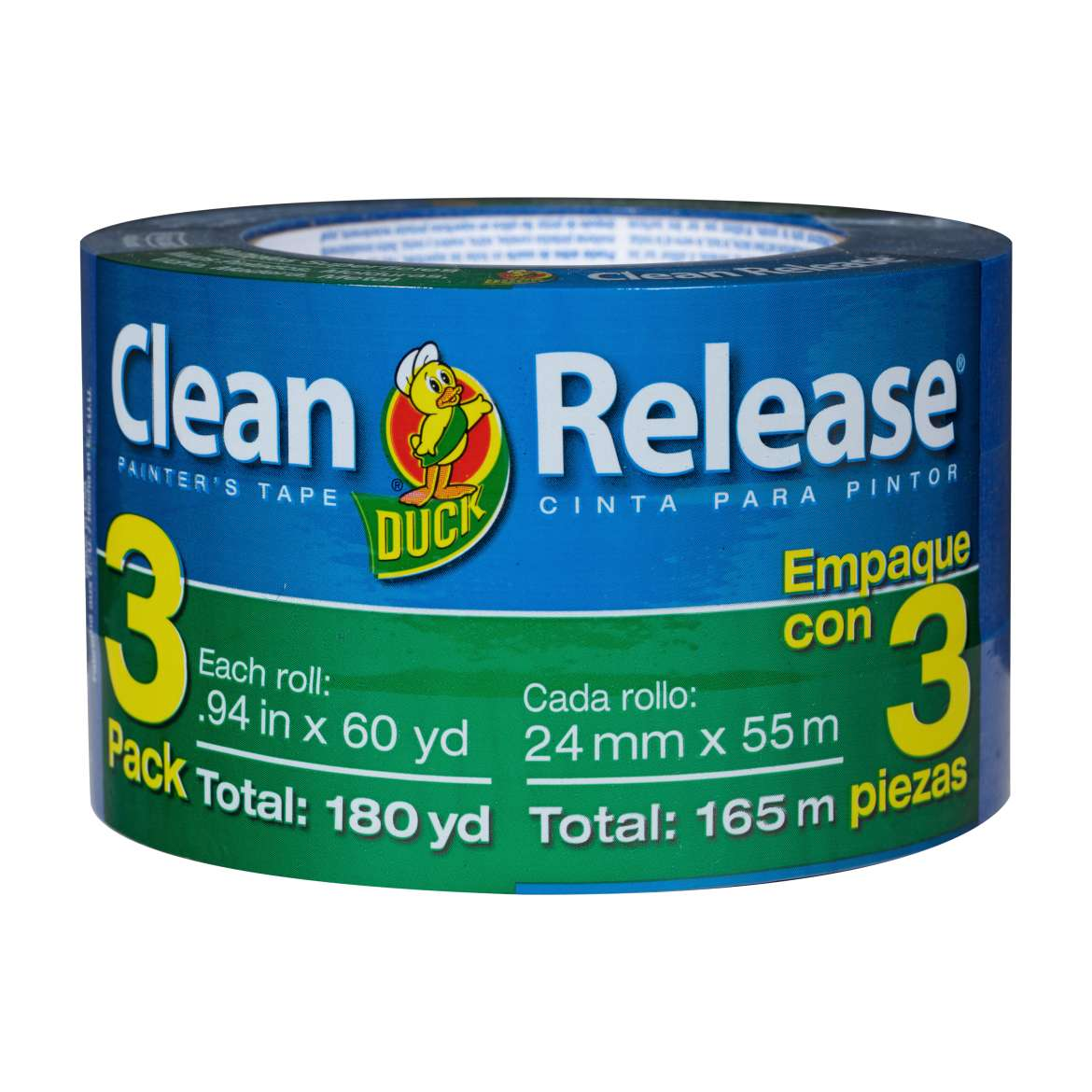 Clean Release® Painter's Tape - Blue, 3 pk, .94 in. x 60 yd. Image