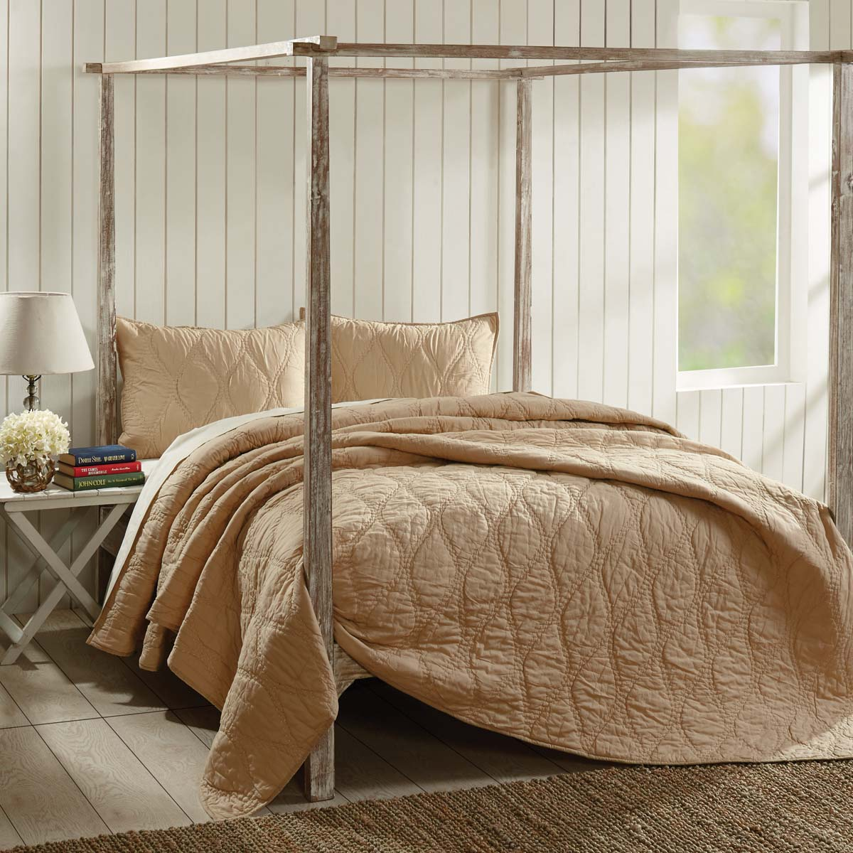 Harbour Sand Twin Quilt 68Wx86L