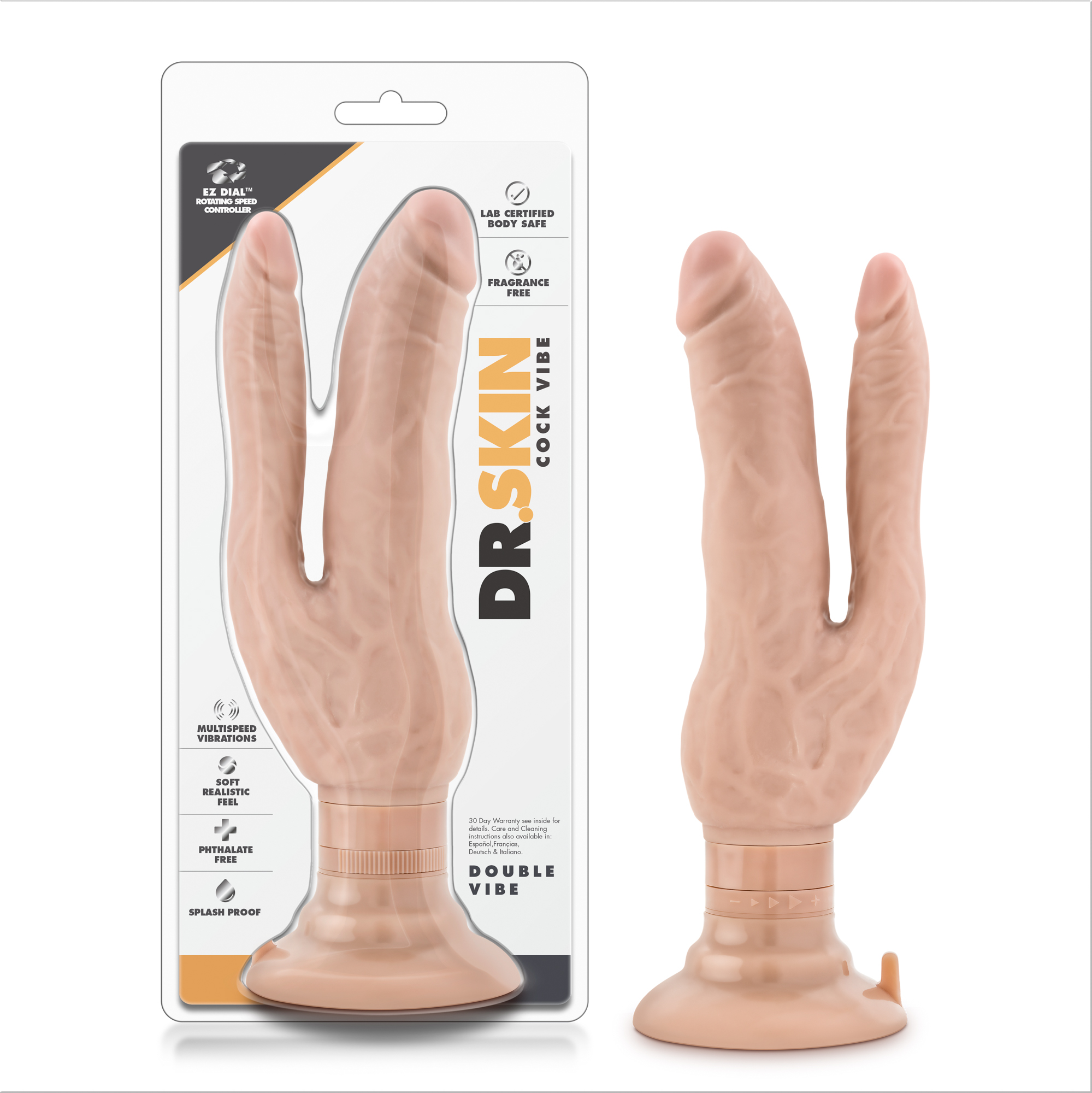 Dr. Skin - Cock Vibes - Double Vibe - Beige