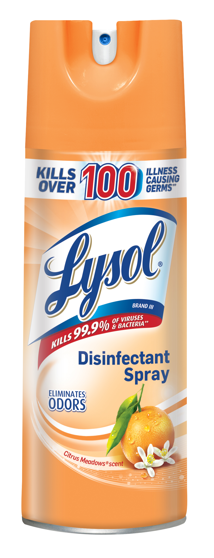 Lysol Disinfectant Spray, Citrus Meadows, 12.5oz
